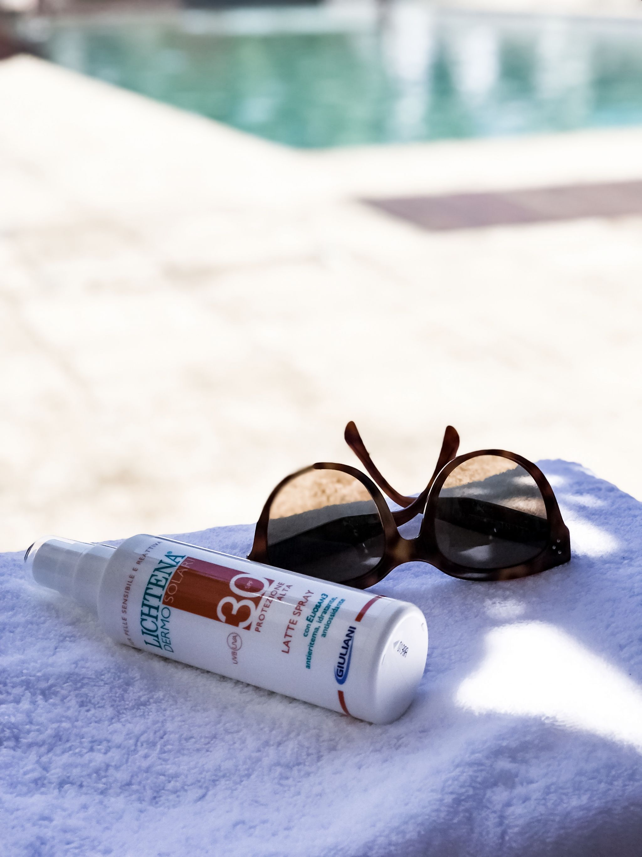 pelle protetta al sole con lichtena dermosolari